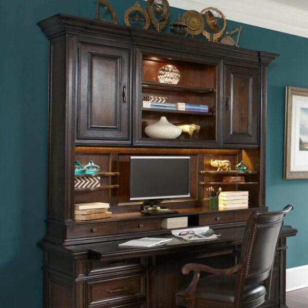 """74"""" Credenza Desk & Hutch"""