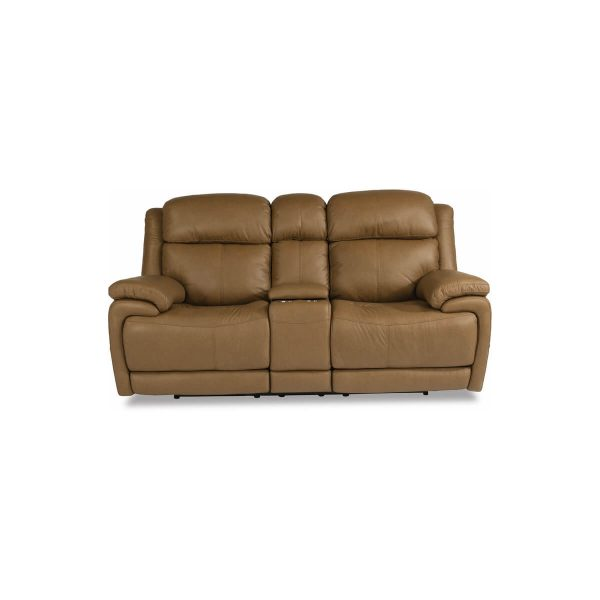Elijah Power Reclining Loveseat with Console and Power Headrests and Lumbar