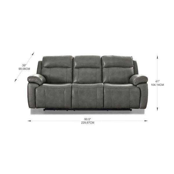 Atticus Leather Collection with Power Recliner, Headrest and Lumbar