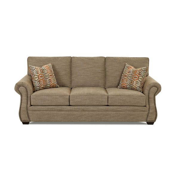 """Jasper Nailhead Stationary Sofa (91"""") Made to order fabrics"""