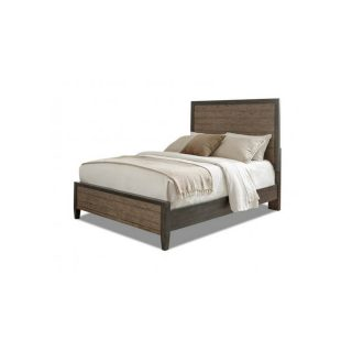 Marlo Queen Panel Bed in Charcoal and Mink 978-050