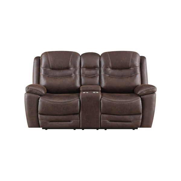 Power Reclining Console Loveseat With USB Ports