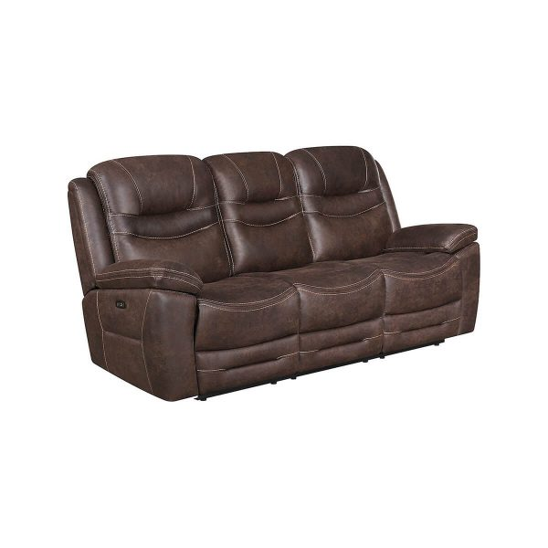 Power Reclining Sofa with Drop Down Table and USB Ports