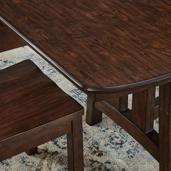 """Trestle Table with 18"""" Butterfly Leaf"""
